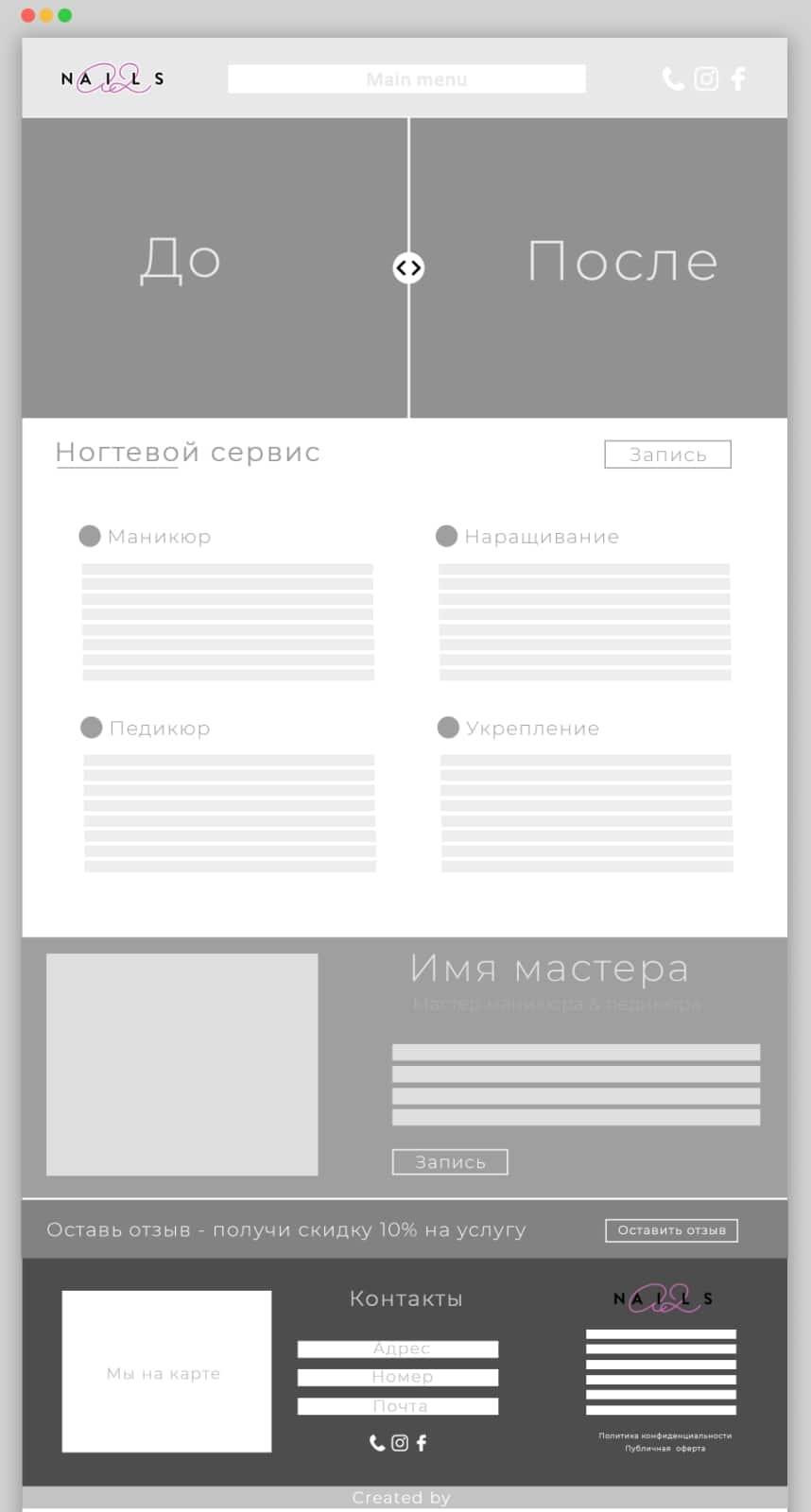 Этапы создания сайта - верстка